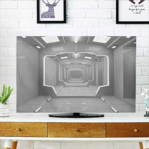 Front Flip Top Super Science Based Light Travel to Planet Solar System Explore Gray Front Flip Top W19 x H30 INCH/TV 32'' by Leighhome