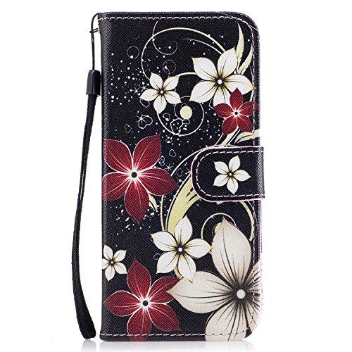 TOCASO Funda de Cuero Samsung Galaxy S8 Cuero Funda Piel para con Tapa Samsung Galaxy S8 [Garantía de por vida] Soporte Plegable Ranuras para Tarjetas y Billetes Estilo Libro Cierre Magnético Impresió Safflower