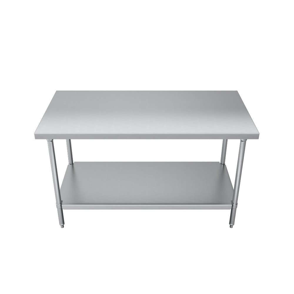 Elkay Commercial Grade NSF Stainless Steel Table with Adjustable Height Feet and Undershelf, 36'' x 24'' by Elkay Foodservice (Image #3)