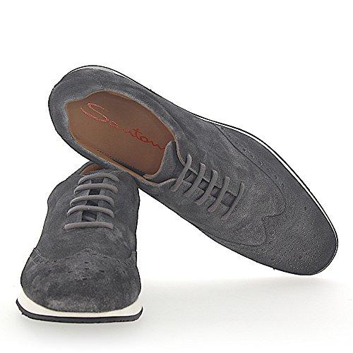 20746 Sneaker In Camoscio Grigio Finito Lyra Perforazione
