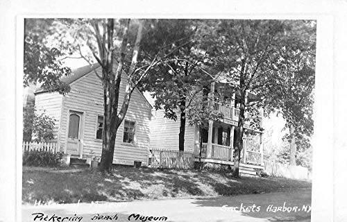 Sackets Harbor New York Pickering Beach Museum Real Photo Postcard JA4741971