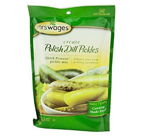 Mrs. Wages Polish Dill Pickle Canning Seasoning Mix, 6.5 Oz. Pouch (Case of 12)