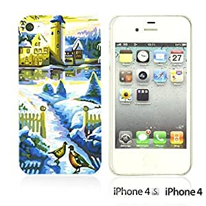 Art Paintings Hardback For Iphone 6 4.7 Inch Case CoverBlue Castle