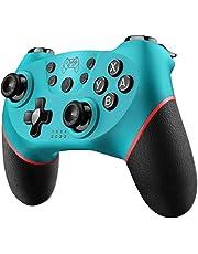 Diswoe Controller für Nintendo Switch, Bluetooth Wireless Pro Controller für Nintendo Switch/Switch Lite mit Vibration und Turbo Funktion Wiederaufladbar Switch Gamepad Controller mit Achse Sensor