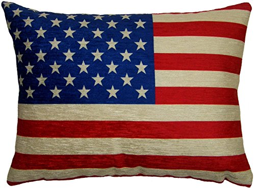 EVANS LICHFIELD USA STARS STRIPES AMERICAN FLAG MADE IN THE UK CHENILLE THROW PILLOW CASE SHAM CUSHION COVER 17