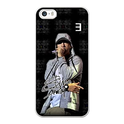 Apple iphone 5/5S/SE Case, Generic Eminem Cover Case for iPhone 5 5S SE White Hard Plastic Phone Case GHST8596193