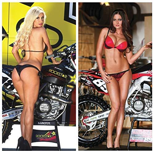 MOTO365 2 Pack Motocross Girls Poster Bikini MX Pin Up Supercross Dirt Bike