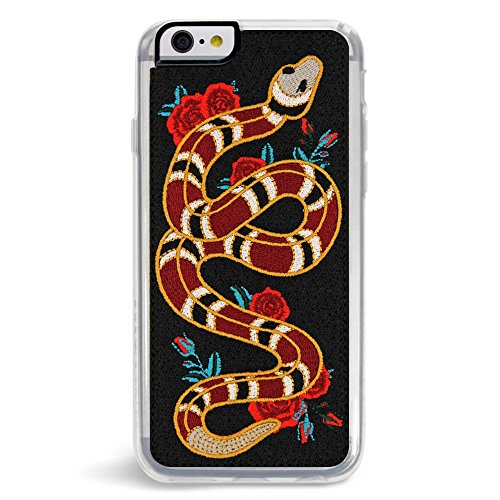 Embroidered Phone Case (Zero Gravity Apple iPhone 6/6s Strike Embroidered Phone Case - Snake And Roses Design - 360° Protection, Drop Test Approved)