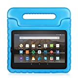 TNP Fire HD 8 Case - Kids Shock Proof Soft Light Weight Childproof Impact Drop Resistant Protective Stand Cover Case with Handle for Amazon Fire HD 8 Inch Tablet 5th Gen 2015 Release (Blue)
