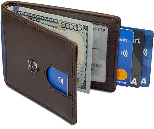 Travando Money Clip Wallet ORLANDO Mens Wallet slim Front Pocket RFID Blocking Card Holder Minimalist Mini Bifold Gift Box ()