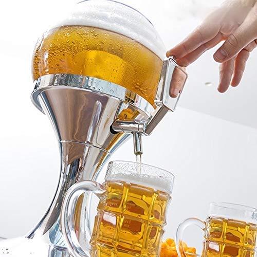 dobo® dispensador 3,5 litros biraa Bebidas grifo dispensador en forma de balón Bebidas frescas con Bandeja para Hielo Beer Ball distribuidor casa cerveza O ...