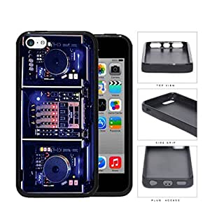 DJ Turntables With Glow Neon Lights Rubber Silicone TPU Cell Phone Case Apple iPhone 5c