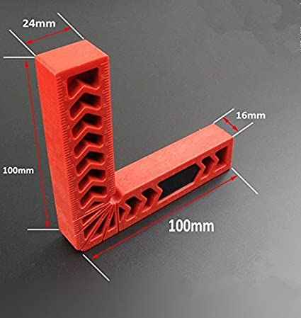 6 Gaosi Tools Positioning Squares Clamp-It Assembly Square with Red Color