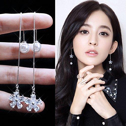usongs Cute girls suit wine red street sign earrings earrings earrings elegant irregular gray glass hip-hop