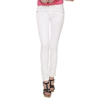 deeaf25b739 Trifit White Color Denim Jeans for Girls  Amazon.in  Clothing   Accessories