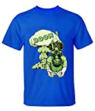 Crossing Mens Wearing Protective Masks to Play the Game BOOM!! T-Shirt for Men S blue