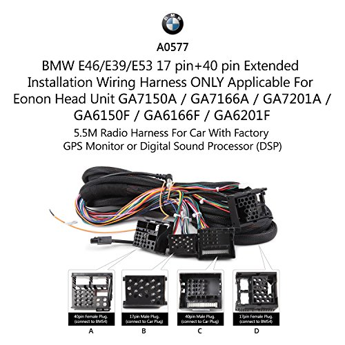 best eonon a0577 extended installation wiring harness for