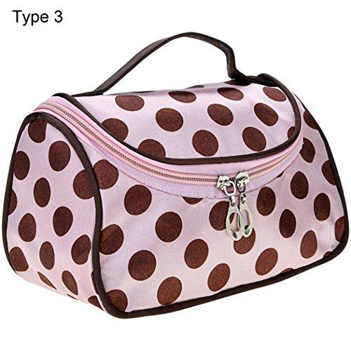 Monedero de mujer - All4you Casual dama trabajo Bolsa viaje maquillaje bolsa de cosméticos Handbag(Pink) Rosa