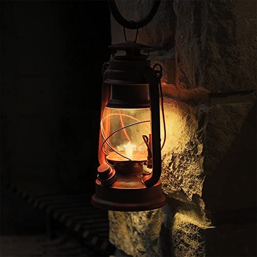 NEBO Old Red LED Lantern w Realistic Flicker Flame