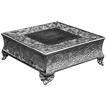Silver Wedding Cake Stand Square 16x16 A Strongly Built Masterpiece For Multilayer