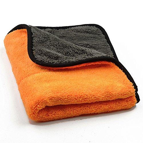 Microfibre Chiffon Sec voiture kratzfrei de voiture Madagascar–45x 38cm Orange Nettoie Sèche Entretien sans les rayures Protection de surface Chiffon Sec (Orange)