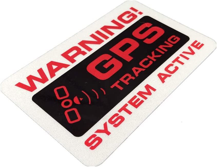 2PCS Car Styling Decals Warning GPS Tracking System Active Bike Motorcycle Sticker 120x75mm (A)