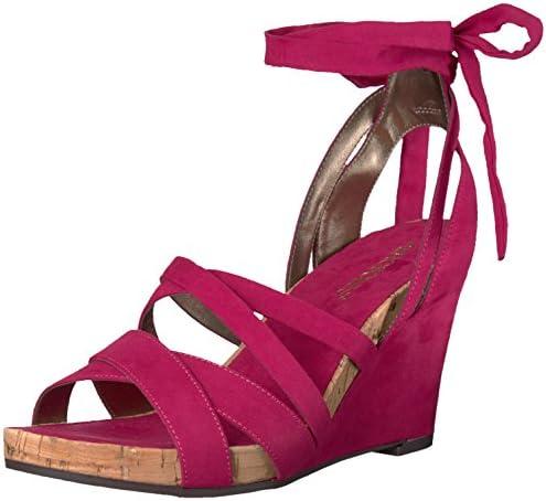 Aerosoles Women's Lilac Plush Wedge Sandal, Pink Fabric, 12
