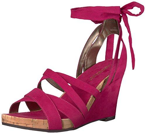 Aerosoles Women's Lilac Plush Wedge Sandal, Pink Fabric, 8.5 M US - Aerosoles Womens Wedge Shoes