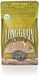 Lundberg Organic Long Grain Rice, Brown, 32 Ounce