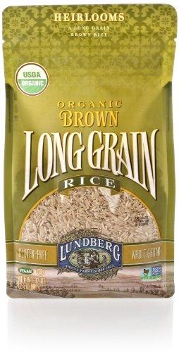 Cakes Rice Whole Grain (Lundberg Family Farms Organic Long Grain Rice, Brown, 32 Ounce)