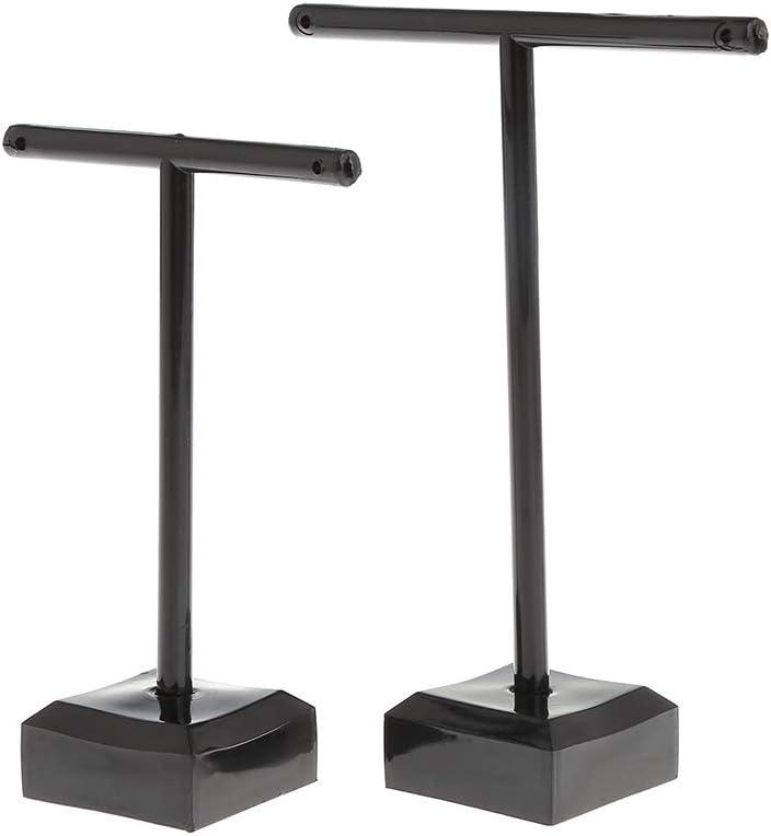 2 Pcs//Set Aretes Joyeria Display Rack Forma T Stand Mostrar Encantos Universal Escaparate Profesional Boutique