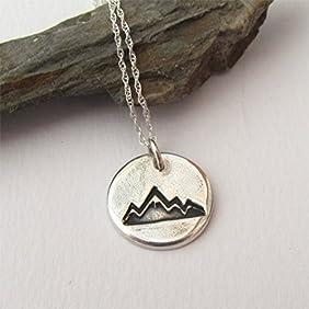 Original Silver Mountain Pendant On Sterling Silver Chain
