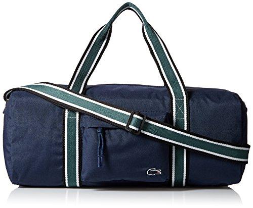 Lacoste Men's Tennis Set Duffle Bag, Peacoat Sinople Stripe, One Size by Lacoste (Image #1)