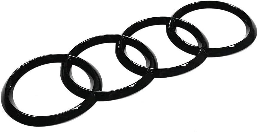 Audi 8w9853742at94 Zeichen Heckklappe Ringe Black Edition Emblem Blackline Logo Schwarz 20 1 X 7 0 Cm Auto