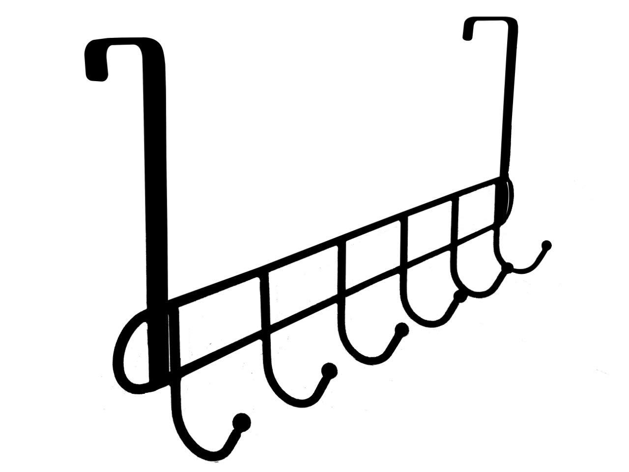 Gancho para Colgar sobre la Puerta de Alambre 6 Ganchos para Abrigos Colgador de escobas Organizador de Ropa Abbey para ba/ño sin Perforaciones detr/ás de la Puerta Almacenamiento de Armario