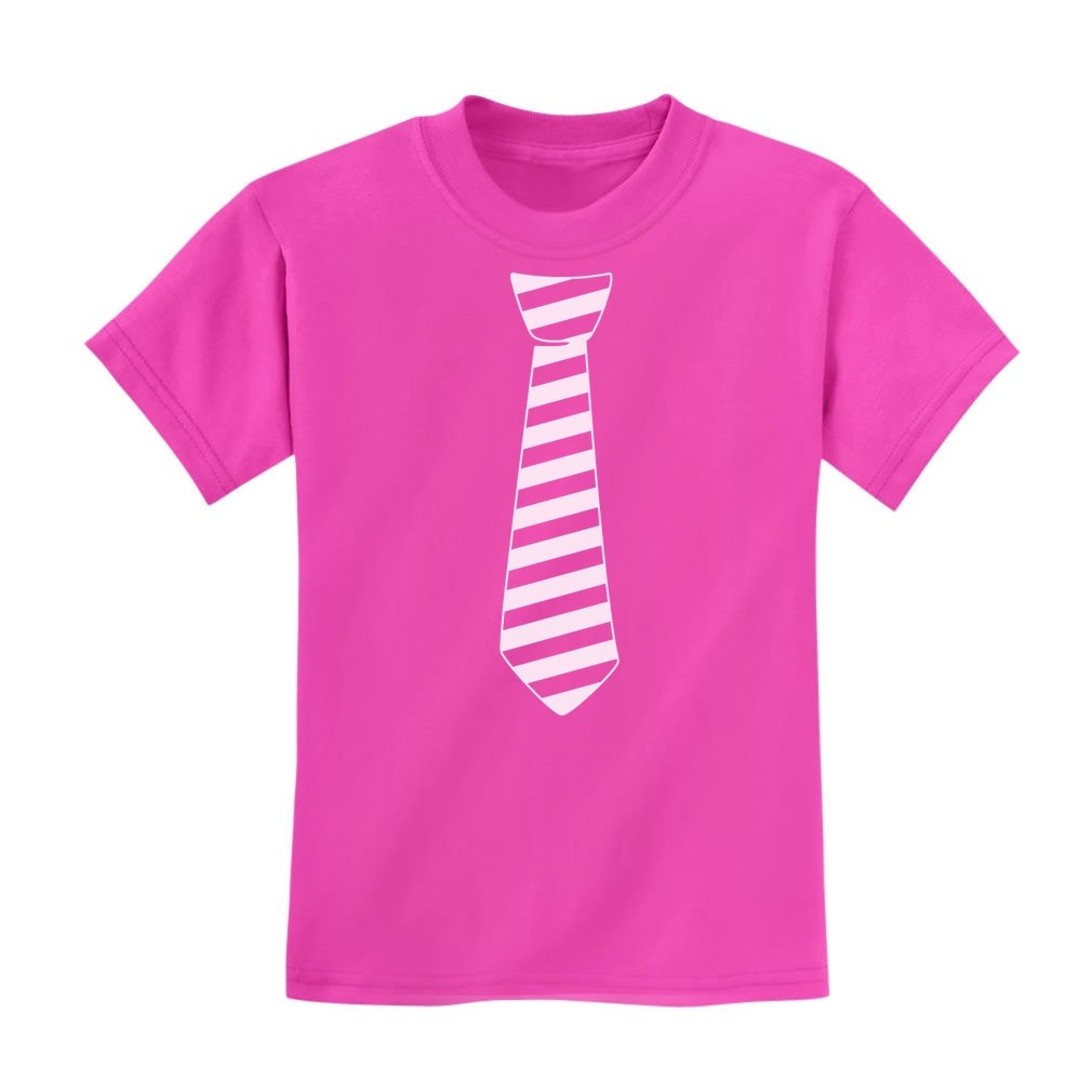Pink Day Wear Pink Against Bullying Kids T-Shirt Striped Tie TeeStars