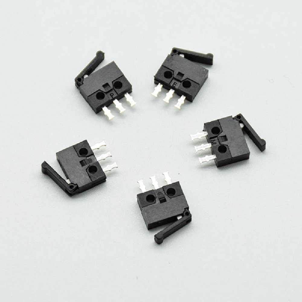 meixiang Peque/ño Microinterruptor Interruptor De Reinicio De La C/ámara Interruptor De La Manija del Pie Recto 5PCS//Negro