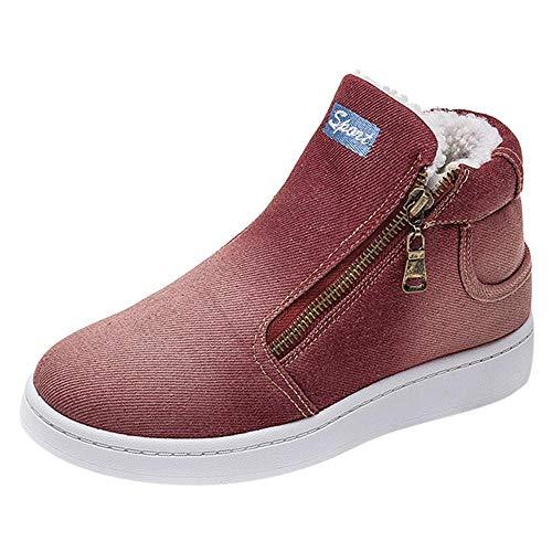 Tacon Mujer Cuñas Cremallera Plataforma de Gruesa Logobeing Redonda de Botines  Botas Botas Alto Zapatos con Invierno ... 6f63bcf6ba174