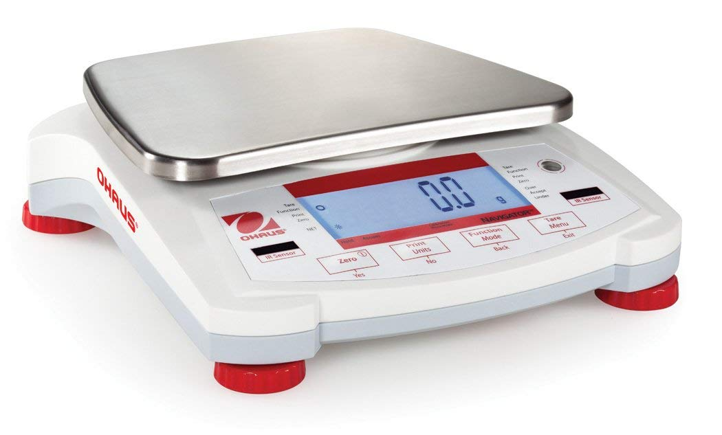 1200g x 0.1g, Portable Top Loading Balance Ohaus Navigator NV1201, 7.5in x 5.7in Ultra Light by Ohaus