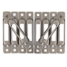 STAINLESS STEEL SNAPLOC 10 PACK E-Track Singles strap anchors