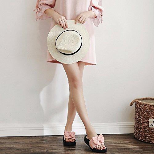 calzado Verano Rosa toallas High Bug modische zapatillas calzado zapatillas y Muffins damas coole Heels el X1q6X