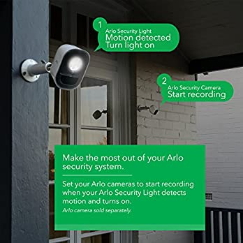 Arlo by NETGEAR Indoor/Outdoor Smart Home Security Light. Wire-Free, Weather Resistant, Motion Sensor, Rechargeable, Multi-Colored LED, Works with Amazon Alexa