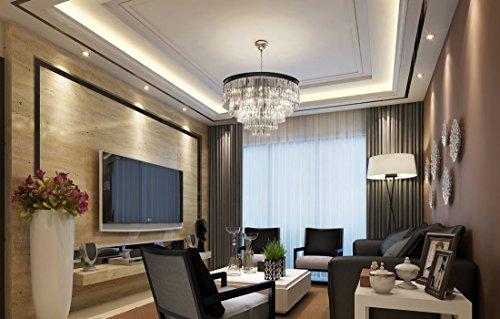 Lumos 12 Lights Luxury Modern Crystal Chandelier Pendant Ceiling Light for Dining Room, Living Room … (12 Lights) by Zgear (Image #1)