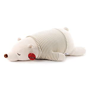 Niuniu Daddy Soft Stuffed Polar Bear Cute Plush Baby Toy Stuffed Animal Hugging Pillow Plushies Kids Bedtime Friend Pillow Cushion 14 Inches