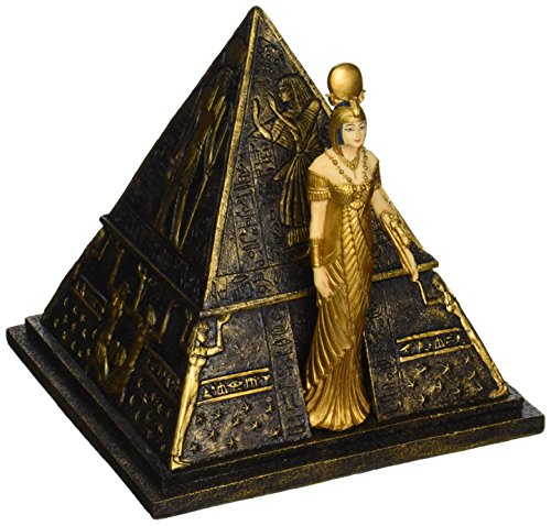 Design Toscano Egyptian Décor Trinket Box - Egyptian Goddess Isis Pyramid Jewelry Box - Egyptian Statues