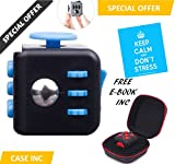 Fidget Cube Anxiety Attention Toy With BONUS CASE + eBook Included – Relieves Stress And Anxiety And Relax for Children and Adults BONUS EBOOK is sent by email