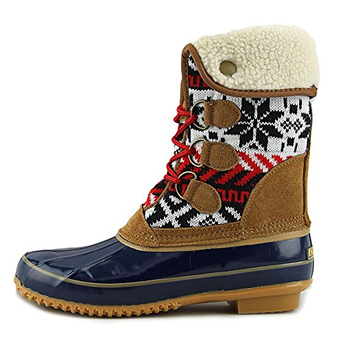 Toe Weather Closed Mid Calf Navy Jenna Cold Womens Tan Boots Khombu 4fSnW06f