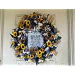 Farmhouse-Decor-Farm-Sign-Sunflower-Fall-Spring-Summer-Wreath-Front-Door-Burlap-Sunflower-Wedding-Country