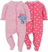 Gerber Baby Girls' 2-Pack Sleep