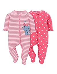 Gerber Baby Girls 2 Pack Sleep and Play
